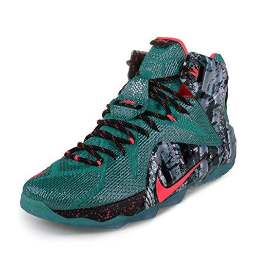 Nike Men's LeBron 12 XMAS Christmas - Akron Birch Basketball Shoes (707558-363) Men's 13 D(M) - Akron Shoe