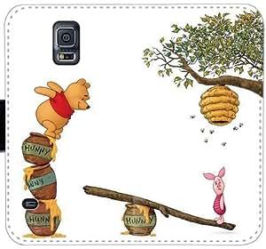 Piglet W0W3V Funda Samsung Galaxy Note Funda de cuero 4 caja de la carpeta O7R5Rs cubiertas del teléfono celular balística