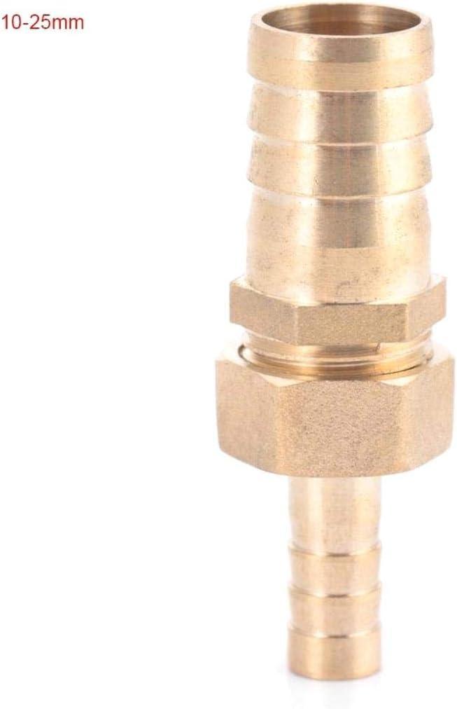 SALAKA Lat/ón de la Manguera de Montaje Reductor de Cola de leng/üeta Conector de Enchufe Reductor 10 mm-16//19//25 mm 10-16 mm