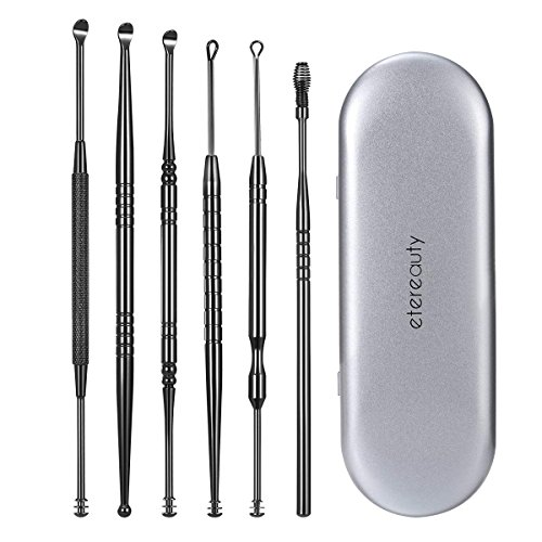 Ear Wax Remover, ETEREAUTY Ear Cleaner, Ear Pick with Storage Box Stainless...