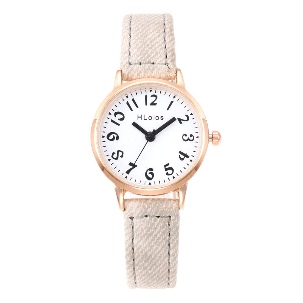 Women Clearance Analog Quattz Watches Fashion Waistwatch Digital Leather Strap Waterproof Watch On Sale