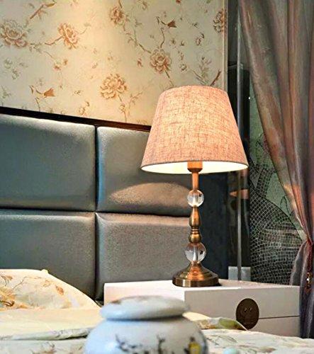 MTBHW American Retro Crystal Lamp Table Lamp Bedroom Bedside Lamp European Luxury Table Lamp by MTBHW (Image #2)