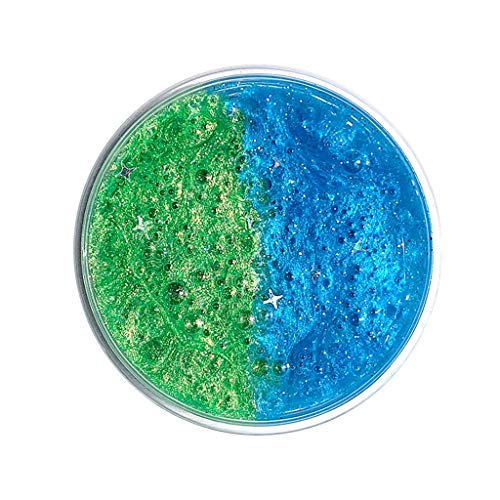 OrchidAmor New Interstellar Galaxy Fluffy Powder Slime Relief Children Kid Funny Toy Gift Blue Green