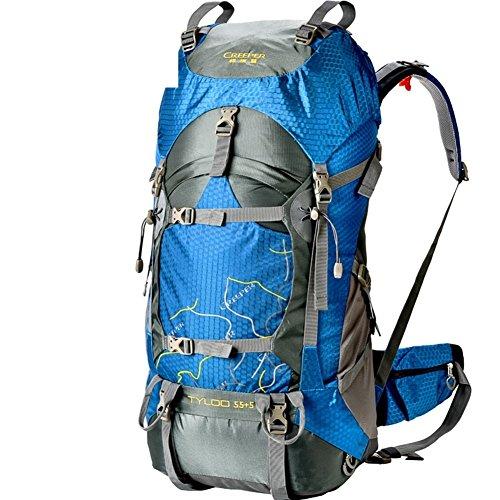 borse alpinismo esterno/Borse da viaggio/zaino da viaggio-blu 55+5L