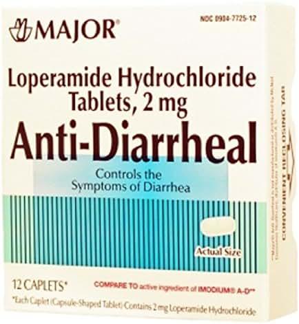 ANTI-DIARRHEAL CPLT LOPERAMIDE HYDROCHLORIDE-2 MG Green 12 CAPLETS UPC 309047725120