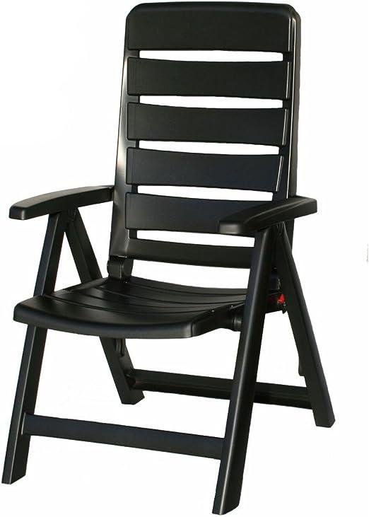 4 Kettler Nice Jardin Chaises en Anthracite Chaise pliante meubles de jardin Fauteuil