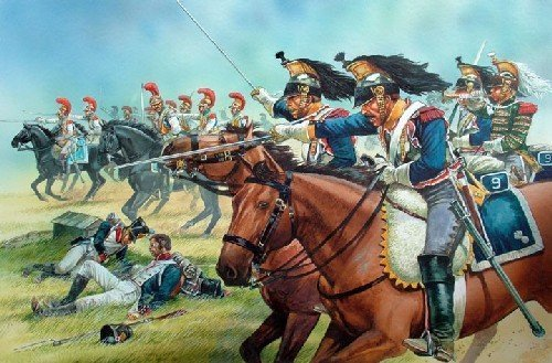 (Perry Miniatures FN120 French Napoleonic Heavvy Cavalry 1812-1815 28mm Hard Plastic Figures x 14 by Perry Miniatures)