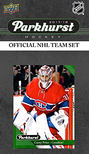 Montreal Canadiens 2017 2018 Upper Deck PARKHURST Series Factory Sealed Team Set including Carey Price, Alex Galchenyuk, Victor Mete Rookie Card plus Montreal Canadiens Collectibles
