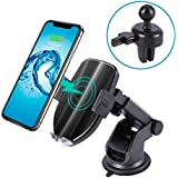 Wireless Car Charger Mount, DAJIABUY Qi Certified Fast Charging Air Vent Car Phone Holder for iPhone Xs/Xs Max/XR/X / 8/8 Plus, Samsung Galaxy Note 9/ S9/ S9+/ S8/ S8+ (Black)