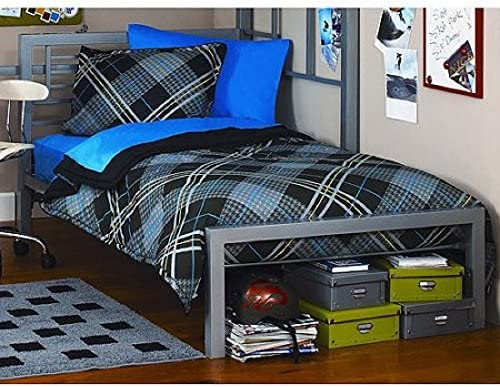 metal twin bed silver by Your Zone