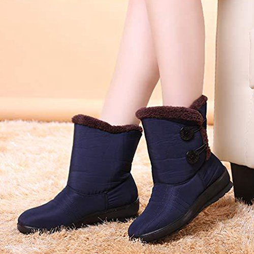 Breathable Boots Waterproof Non Blue Furry Girl's Shoes Short slip Snow Women's Warm Yiiquan Winter 6w1xv4v7