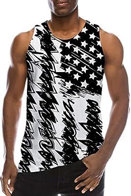 Ahegao Men's Tank Tops 3D Printed Underwaist Funny Jersey Ringer Casual Vest T Shirt