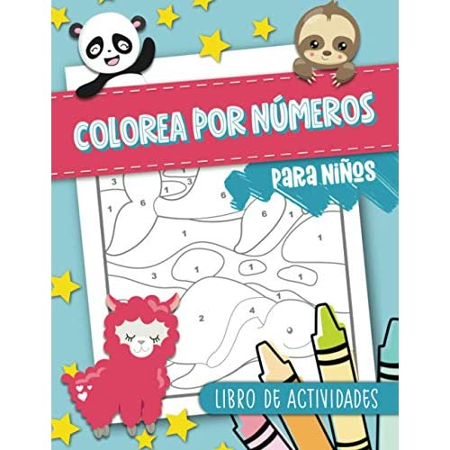 Colorea por números para niños: Libro de actividades: 50 páginas de colorear con temática de animales para 3-10 años Tapa blanda – 15 enero 2021 a buen precio