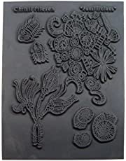 """Great Create 5.5-Inch by 4.5-Inch Christi Friesen Texture Stamp 4.25""""x5.5"""", Fossillicious"""