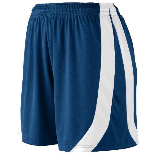 Augusta Sportswear Girls triumph short - NAVY/WHITE - S by Augusta Sportswear