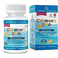 Nordic Naturals Children's DHA Strawberry - Children's Fish Oil Supplement for Healthy Cognitive Development and Immune Function*, Bonus Count 120 Soft Gels
