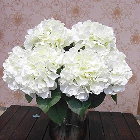 Künstliche Hortensie mit Stiel ca 25 cm Kunstblume Hochzeit Deko Basteln Shabby