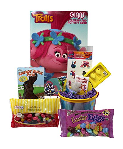 Trolls Easter Basket   Great for Little Boys and Girls   Pre