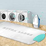 YQMAJIM Ironing Mat,Extra Large Thickened (47.25 x 21.55 inch) Ironing Blanket Portable Ironing Pad, Double-Side Using Heat Resistant Pad Table Top Countertop,Perfect Replacement for Ironing Board