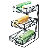 Cal-Mil 1235-TEA Glacier Center Display, 7.5'' Width x 14.5'' Depth x 18'' Height, Black