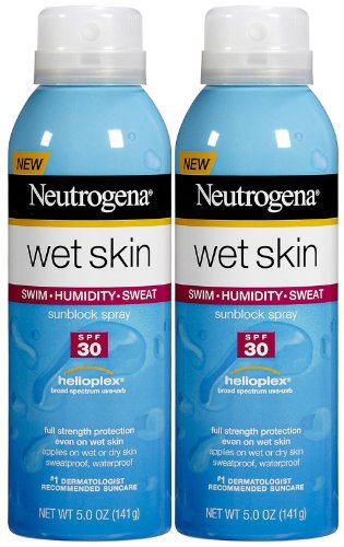 Neutrogena Wet Skin Sunblock Spray SPF 30-5 oz, 2 pack