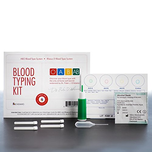 Dadamo Personalized Nutrition Home Blood Type Testing Kit