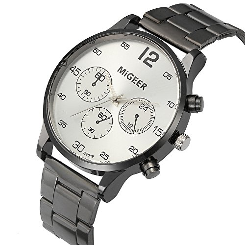 Crystal Glass Stainless Steel Watch - 8