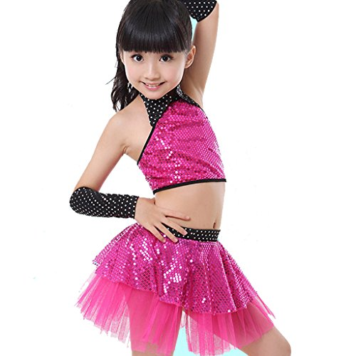 [OEM Girls Dance Clothing Sequin Yarn Skirt Children Dance Jazz Dance Costumes.] (Dance Costumes Kids Jazz)