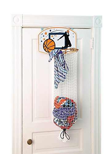 Taylor Toy Over The Door Basketball Clothes Hamper (Sports Themed Gift Baskets For Kids)