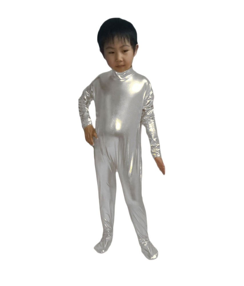 c500a4720 WOLF UNITARD Kids Shiny Metallic Unitard Dancewear Bodysuit Medium ...