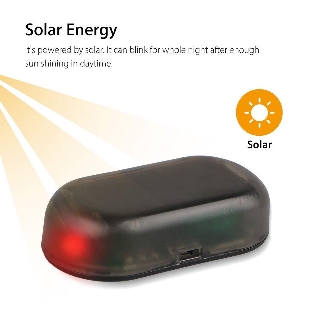 Alftek contraffatte solare auto allarme LED luce auto Security Sistema antifurto Flash lampeggiante Spia