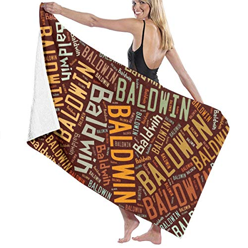 X-JUSEN Baldwin - American Surname Bath Towel Bath Sheets, Beach Hand Turkish Towel Washrag Set for Pool and Gym Use