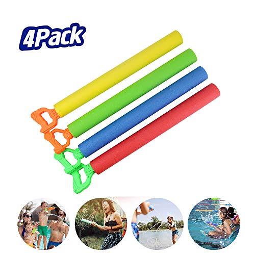 Maikall Rish Children's Water Gun 4 Pack Super Foam Gun Shooter Summer Fun Outdoor Pool Game Outdoor Beach Drift Toy Boy Girl Adult