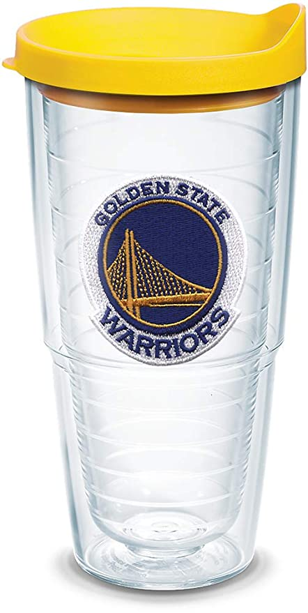 5bc412748a3 Tervis 1051629 NBA Golden State Warriors Primary Logo Tumbler with Emblem  and Yellow Lid 24oz, Clear