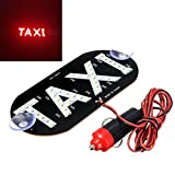 Connoworld Clearance Sale Cigarette Lighter LED Car Windscreen Cab Indicator Taxi Lamp Suction Sign Light 5 Colors