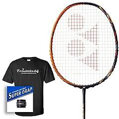 Badminton Avenue Bundle Includes - racket strung at BG-65 string @ 24 lbs, One Yonex Super Grap Overgrip & 100% Cotton Premium BadmintonAvenue T-Shirt(PLEASE SPECIFY adult shirt size S, M, or L, in Order Comments). The top-of-the-line AST...