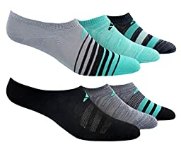Adidas Women\'s Superlite No Show Socks (Pack of 6),green, shoe5-10