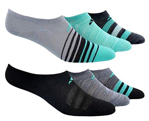 Adidas Women's Superlite No Show Socks ,black, shoe 5-10