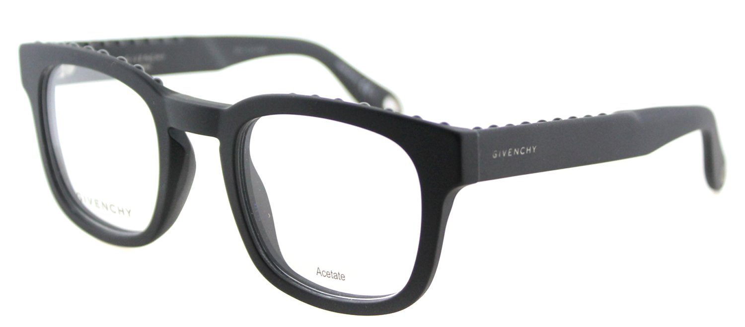 Givenchy GV 0006 0QHC Matte Black Plastic Square Eyeglasses 49mm by Givenchy