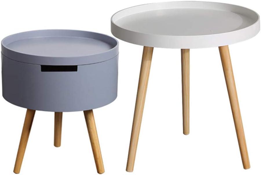 Collecties ZRRtables Nordic zijtafel, ronde bijzettafelset van 2 sofa, bijzettafel, salontafel voor woonkamer, slaapkamer, balkon E CASATb7