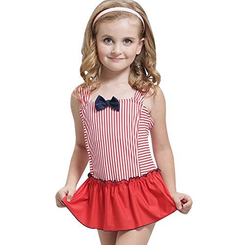 Senbowe Children Kid One Piece Swimsuit Swimwear Swimdress Bathing Suit for Girl