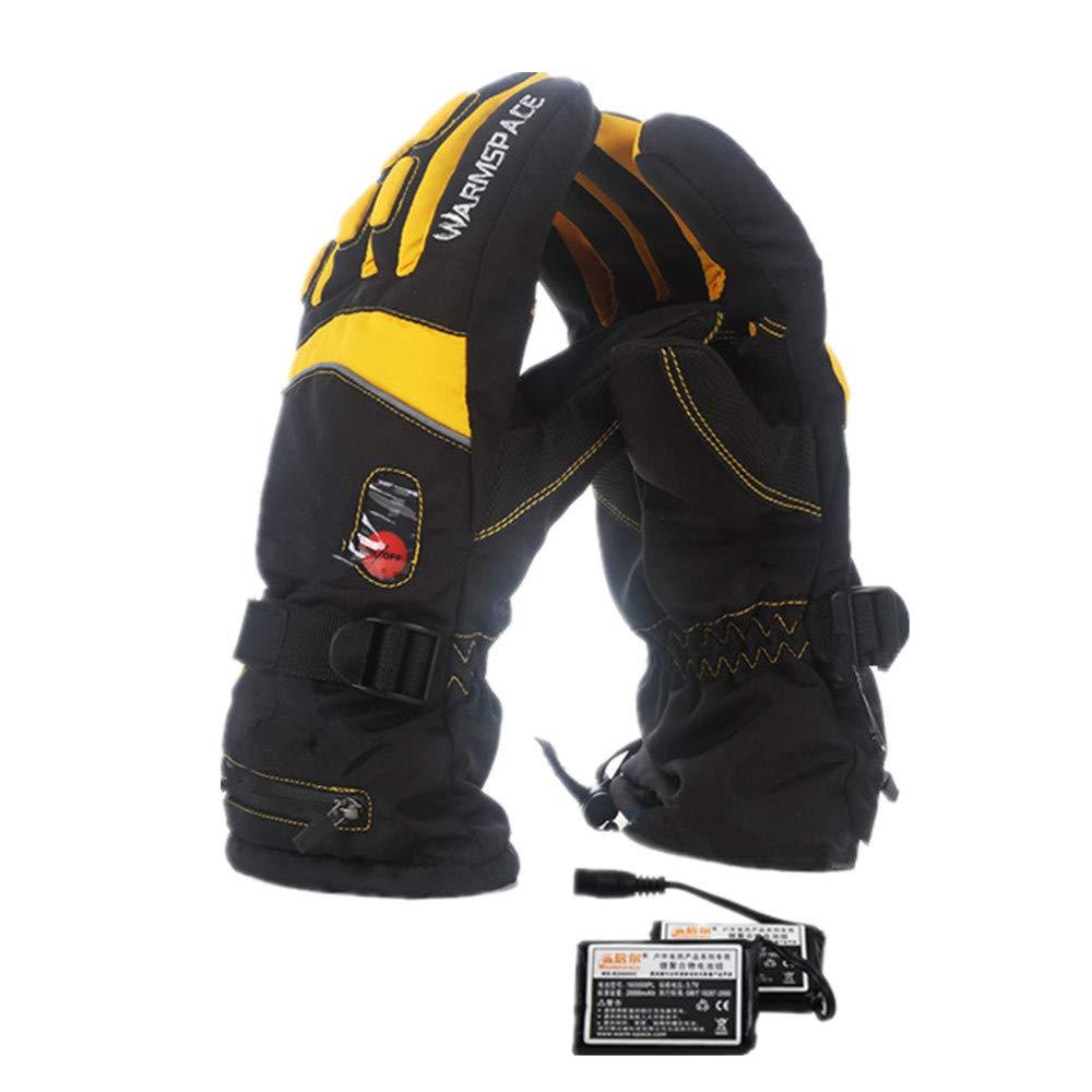 Beheizte Handschuhe Beheizte Handschuhe mit wiederaufladbarer Lithium-Ionen-Batterie für Männer und Frauen, warme Handschuhe zum Radfahren Motorrad Wandern Skifahren Bergsteigen Handwärmer reiten