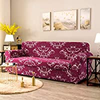 Pleasant Tikami 2 Piece Sofa Slipcovers Floral Patterned Stretch Loveseat Covers Washable Couch Protector For Living Room Loveseat Amaranth Ibusinesslaw Wood Chair Design Ideas Ibusinesslaworg