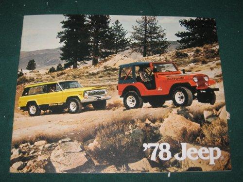 1978 Jeep Full Line Dealer Sales Brochure; CJ5; CJ7; Cherokee; Pickup; Wagoneer