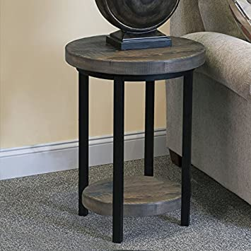 Alaterre Pomona Rustic Round End Table