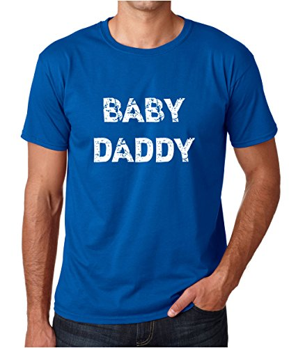 CBTWear Baby Daddy - Funny for New Dad - Baby Announcement Premium Men's T-Shirt (Medium, Royal Blue)