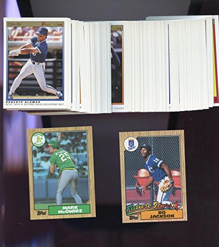 1991 O-Pee-Chee Premier Baseball Card Complete Set OPeeChee 1987 Topps Mark McGwire Bo Jackson 1987 Donruss Baseball Wax