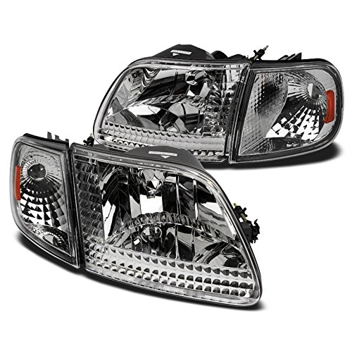 ZMAUTOPARTS Ford F150/ EXpedition Crystal Head Lights+Corner Signal - Crystal 1997