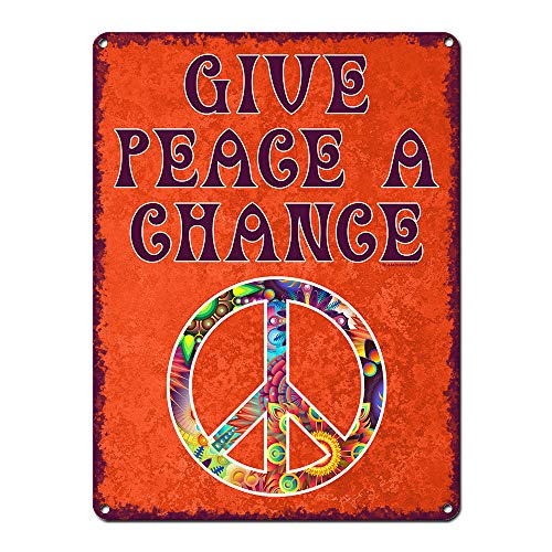Give Peace A Chance ~ 60s Era Hippie Quotes Wall Decor ~ 9