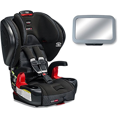 Britax Pinnacle G1.1 ClickTight Harness-2-Cool Flow Collection Booster Car Seat with Back Seat Mirror – Gray